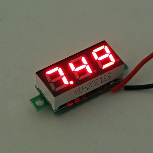 Voltmètre numérique testeur rouge auto-alimenté