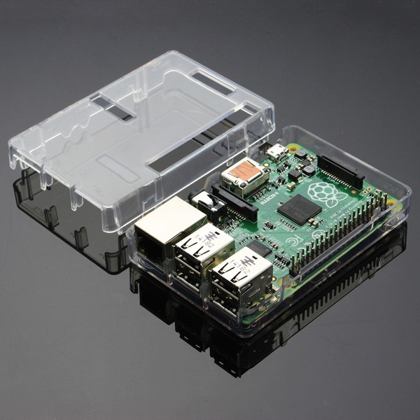 BOITIER TRANSPARENT RASPBERRY PI3