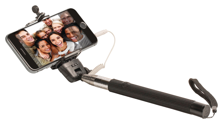 Perche téléscopique pour smartphone NOIR 110cm