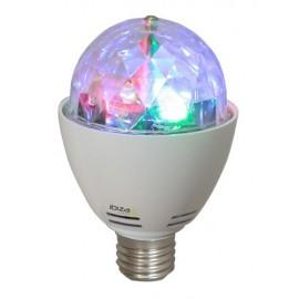 LAMPE E27 EFFET DE LUMIERE 4 LED RVB ROTATIF
