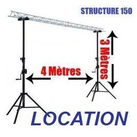 LOCATION PONT LUMIÈRE A TREUIL 4MTS