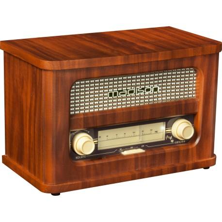 RADIO VINTAGE AUTONOME AVEC BLUETOOTH & FM 2 X 10W