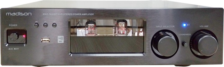 AMPLIFICATEUR A TUBES 2 X 80W AVEC BLUETOOTH