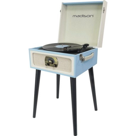 Platine tourne disque bluetooth tuner fm dans un meuble - Meuble pour tourne disque ...