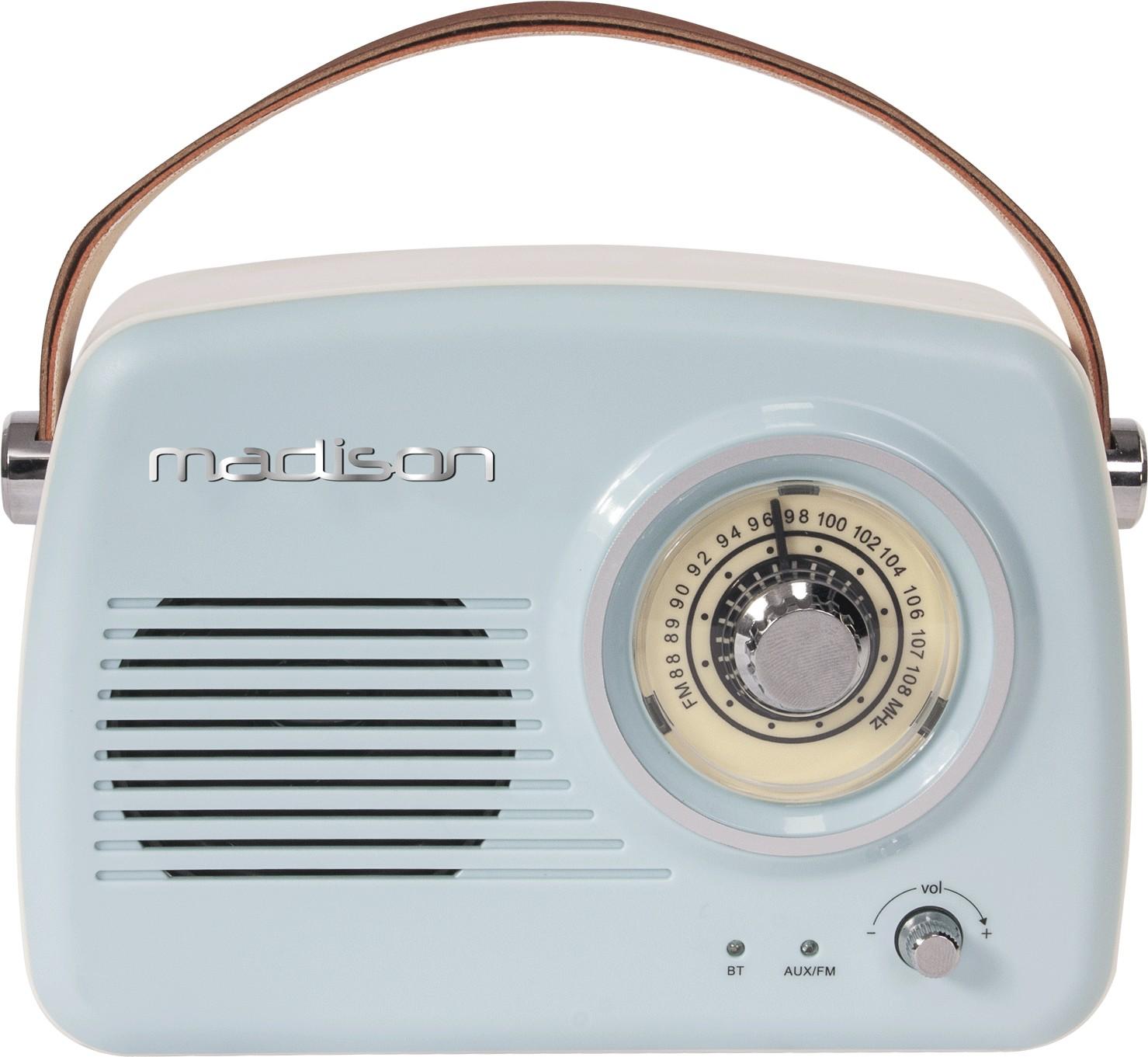 RADIO VINTAGE AUTONOME AVEC BLUETOOTH & FM 30W