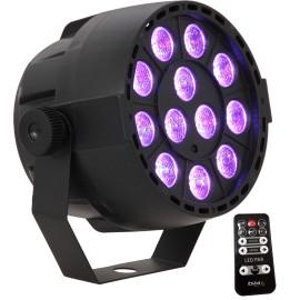 PROJECTEUR PAR A LED 12 X 3W RVB 3-EN-1
