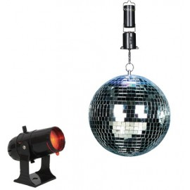 ENSEMBLE DISCO LIGHT BOULE 20CM+PROJ+MOTEUR