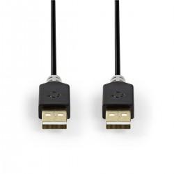 CORDON USB A/A M/M 1M