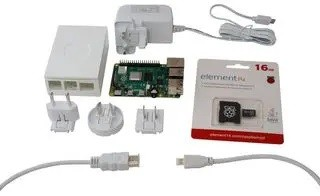 KIT RASPBERRY PI 4 4GB +CABLE HDMI + BOITIER + CARTE SD + ALIM
