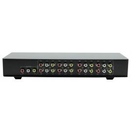 König commutateur audio/vidéo composite 8 ports