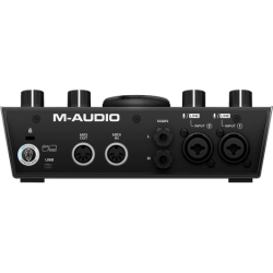 PACK CARTE SON MICRO CASQUE M-AUDIO MIDI RMD-MTRACK2X2 - rer electronic