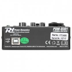CONSOLE USB 2 PISTES RD POWER DYNAMICS PDM-D301 - rer electronic